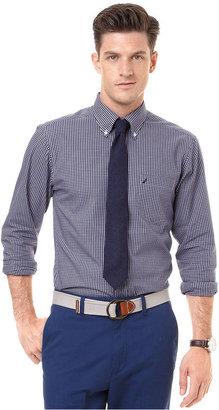 Nautica Shirt, Long Sleeve Mini Plaid Shirt