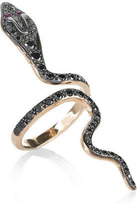 Ileana Makri Cobra 18-karat rose gold diamond ring