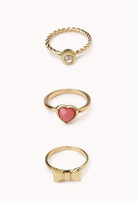 Forever 21 Ultra-Femme Midi Ring Set