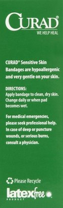 Safety First Curad Sensitive Skin Bandages, 3 pk