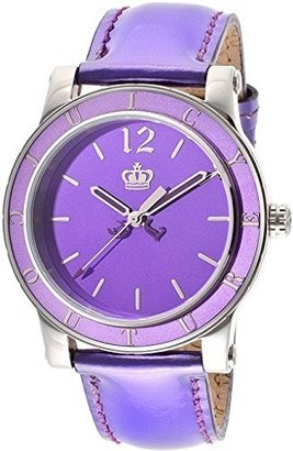 Juicy Couture Women's 1900840 HRH Purple Mirror-Metallic Leather Strap Watch $108 thestylecure.com
