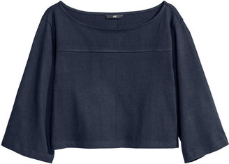 H&M Jersey Top - Dark blue - Ladies