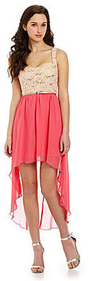 Jodi Kristopher Lace Hi-Low Dress