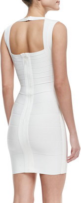 Herve Leger Queen Liz V-Neck Short Bandage Dress