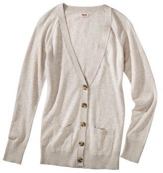 Mossimo Juniors Long Sleeve V Neck Boyfriend Cardigan - Assorted Colors