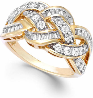 Macy's Wrapped In Love Diamond Woven Ring in 10k Gold (1 ct. t.w.), Created for