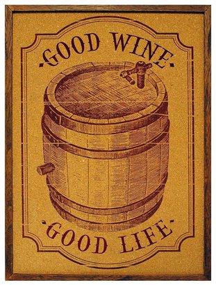 KitchenArt New view ''good wine'' framed cork board