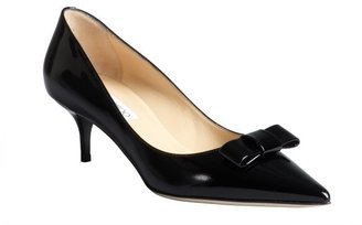 Jimmy Choo black patent leather 'Madeeha' kitten heels