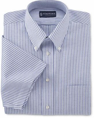 Stafford Mens Short Sleeve Wrinkle Free Button Down Collar Oxford Mens Dress Shirt