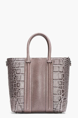 Givenchy Grey Croc-Embossed Leather Lucrezia Tote