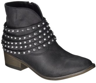 Mossimo Women's Karis Studded Wrap Ankle Boots - Black