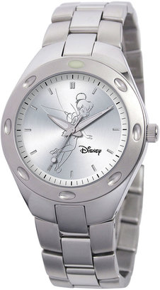 DISNEY Disney Fortaleza Tinker Bell Womens Oversized Silver-Tone Watch $99.99 thestylecure.com