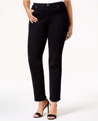 Style&Co. Style & Co Plus & Petite Plus Easy-Fit Tummy-Control Straight-Leg Jeans