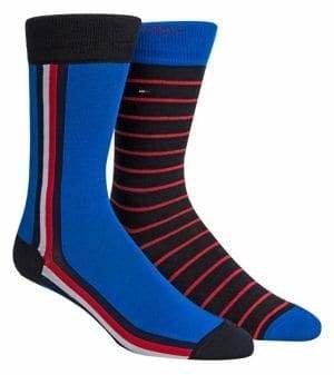 Tommy Hilfiger Men's 2-Piece Stripe Crew Socks