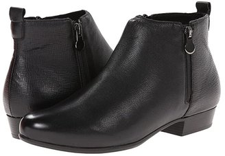 Munro American Lexi (Black Leather/Print) Women's Zip Boots
