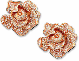Effy Pave Rose by Diamond Flower (1-1/3 ct. t.w.) in 14k Rose Gold