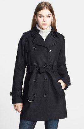 Calvin Klein Wool Blend Trench Coat