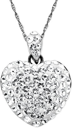 Kaleidoscope Sterling Silver Necklace, Crystal Heart Pendant with Swarovski Elements