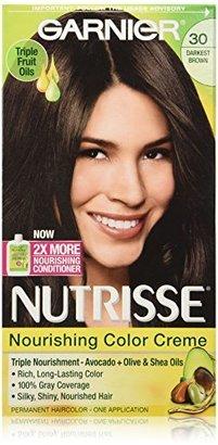 Garnier Nutrisse Nourishing Color Creme, 30 Darkest Brown (Sweet Cola) (Packaging May Vary) $7.99 thestylecure.com