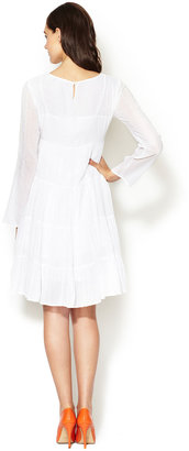 Antik Batik Cotton Embroidered Long Sleeve Dress