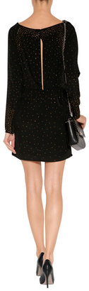 Diane von Furstenberg Leather 440 Mini Faceted Stud Bag in Black