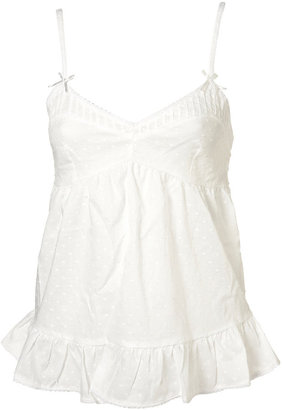 Topshop White Jaquard Embroidered Pyjama Cami