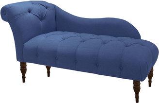 Skyline Furniture Frances Tufted Chaise, Denim Blue