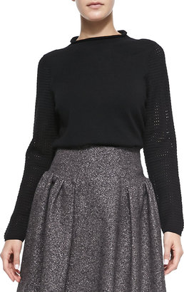 Milly Wool High-Neck Sweater