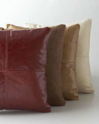 Massoud Brown Leather Pillow