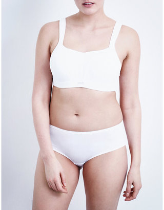Panache White Moulded Sports Bra, Size: 30D