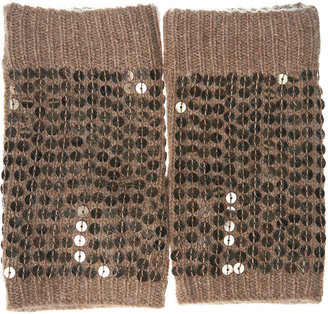 Topshop Sequin Fingerless Gloves