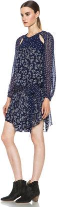 Etoile Isabel Marant Prewitt Bilitis Dress in Midnight Blue