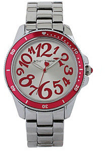 Betsey Johnson Fuchsia Numeral Dial Watch