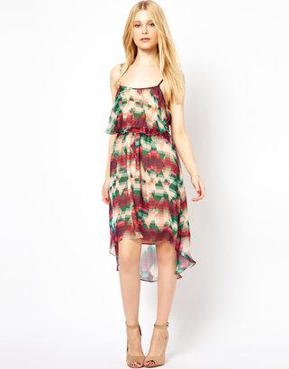 Aryn K Hi Lo Printed Dress