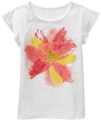 Gap Flutter-sleeve embellished graphic T