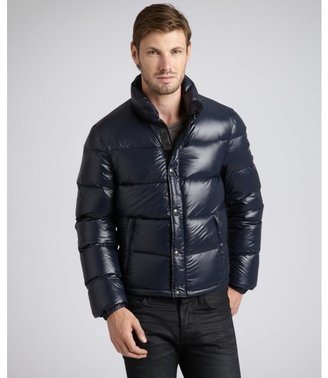 Prada Sport navy quilted nylon cropped down fill coat