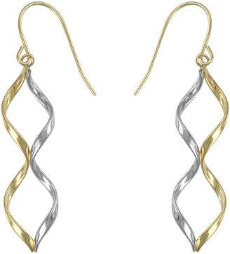 FINE JEWELRY 10K Two-Tone Twisted Drop Earrings $312.48 thestylecure.com