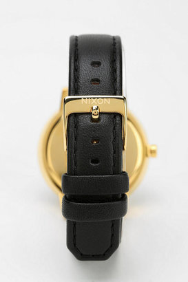 Urban Outfitters Nixon Kensington Leather Gold Watch