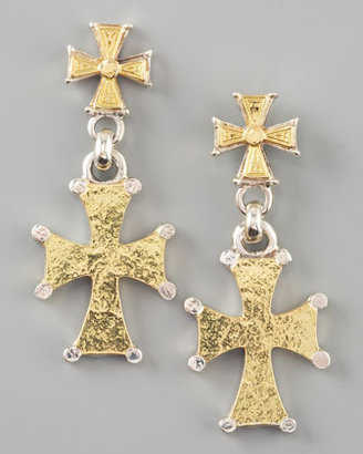 Konstantino Mixed Metal Cross Earrings
