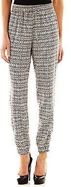 JCPenney Bisou Bisou® Ankle-Zip Smocked Pants