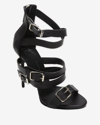 Giuseppe Zanotti Buckled Strappy High Heel Sandal: Black