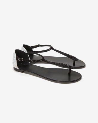 Giuseppe Zanotti Colorblock Crystal Flat Sandal