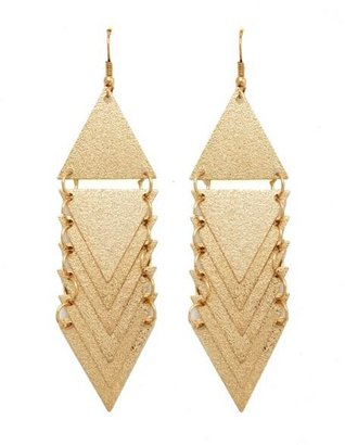 Charlotte Russe Tiered Triangle Dangle Earrings