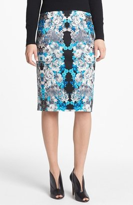 Halogen Print Pencil Skirt