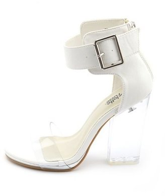 Charlotte Russe Ankle-Strap Clear Heel Pump