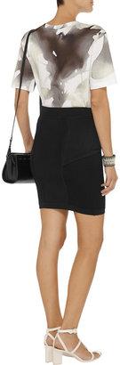 A.L.C. Defays stretch-knit peplum mini skirt