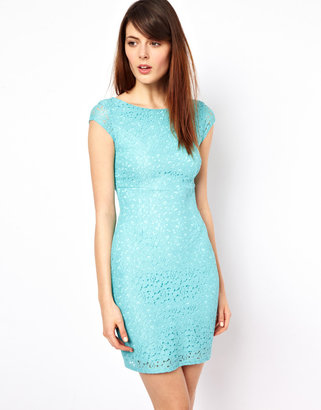 Warehouse Lace Body-Conscious Dress