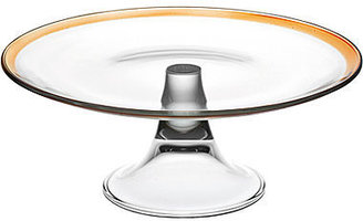 """JCPenney Antibes 11"""" Footed Glass Cake Plate"""