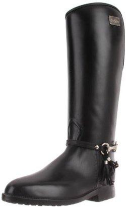 dav Women's Equestrian Tassel Knee-High Boot