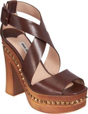 Miu Miu Studded Platform Sandal